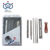 Saw Chain Sharpening Kit Flat Round File 7 Pieces Chainsaw Sharpener File Kit